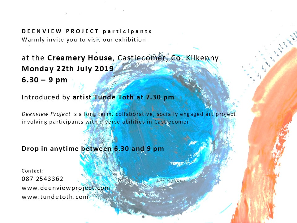 DEENVIEW PROJECT Exhibtion Invite 22 July 2019